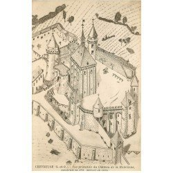 carte postale ancienne 78 VALLEE CHEVREUSE. Château Madeleine en 1624