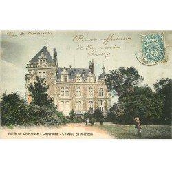 carte postale ancienne 78 VALLEE CHEVREUSE. Château de Méridon 1904 avec Chasseur et Jardinier