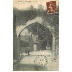 carte postale ancienne 78 VALLEE CHEVREUSE. Abbaye des Vaux-de-Cernay 1930 animation