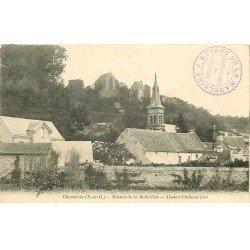 carte postale ancienne 78 VALLEE CHEVREUSE. Ancien Château Fort 1907