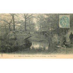 carte postale ancienne 78 VALLEE CHEVREUSE. Romanichels au Pont Vert Vaux de Cernay 1904