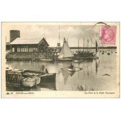carte postale ancienne 14 DIVES. Le Port et le Club Nautique 1948