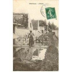carte postale ancienne K. 78 CHEVREUSE. L'Yvette 1908