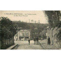 carte postale ancienne K. 78 CHEVREUSE. Café de la Gare Rue Poincaré. Les Yvettes-Lozère