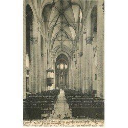 carte postale ancienne 79 AIRVAULT. Intérieur de l'Eglise 1928