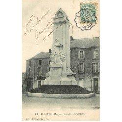 carte postale ancienne 79 BRESSUIRE. Monument commémoratif 1870-1871 en 1906