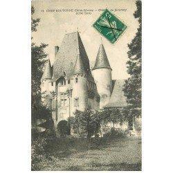 carte postale ancienne 79 CHEF-BOUTONNE. Château Javarzay