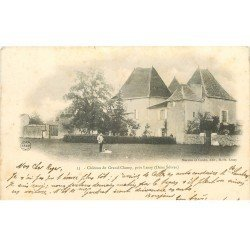 carte postale ancienne 79 CHATEAU DE GRAND-CHAMP. Animation près de Lezay 1903