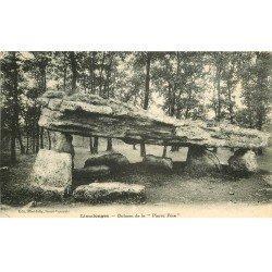carte postale ancienne 79 LIMALONGES. Dolmen de la Pierre Pèse 1926