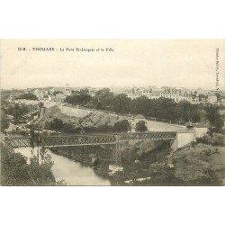 carte postale ancienne 79 THOUARS. Pont Saint-Jacques et Ville