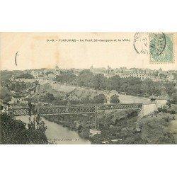 carte postale ancienne 79 THOUARS. Le Pont Saint-Jacques 1906