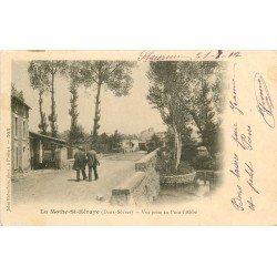 carte postale ancienne 79 LA MOTTE-SAINT-HERAYE HERAY. Pont de l'Abbé 1902