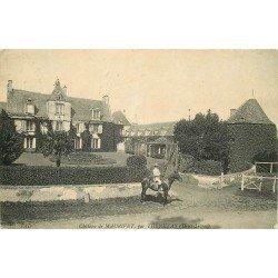 carte postale ancienne 79 MAURIVET. Cavalier au Château par Thenezay 1910 (grande plissure)...
