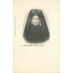 carte postale ancienne 79 PARTHENAY. Costume de Deuil vers 1900