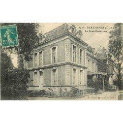 carte postale ancienne 79 PARTHENAY. La Sous-Préfecture 1913
