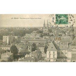 carte postale ancienne 79 NIORT. Panorama pris de l'Eglise Notre-Dame 1922