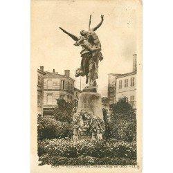 carte postale ancienne 79 NIORT. Monument des Combattants de 1870 en 1924