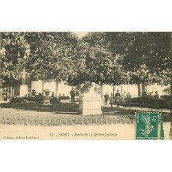 carte postale ancienne 79 NIORT. Jardin de la Brêche 1911