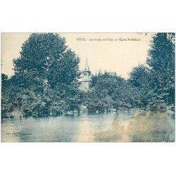 carte postale ancienne 02 GUISE. Eglise Saint-Médard 1935 (trace fumée)...
