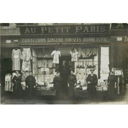 76 LE HAVRE. Au Petit Paris Magasin confections lingerie corsets bonneterie. Photo Carte Postale rare