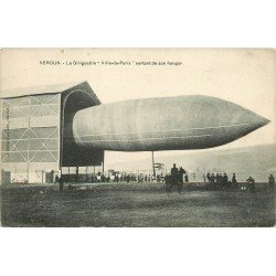 55 VERDUN. Le Dirigeable Ville-de-Paris sortant de son Hangar. Ballon Zeppelin Aviation
