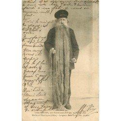 03 MONTLUCON. Louis Coulon Mouleur avec sa barbe de 3 mètres 1903 né à Vandenesse