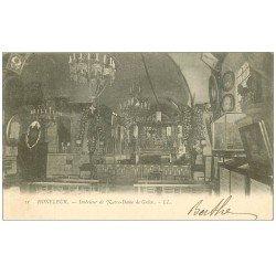 carte postale ancienne 14 HONFLEUR. Eglise Notre-Dame de Grâce 1903