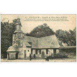 carte postale ancienne 14 HONFLEUR. Eglise Notre-Dame de Grâce 1907