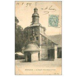 carte postale ancienne 14 HONFLEUR. Eglise Notre-Dame de Grâce Chapelle 1905