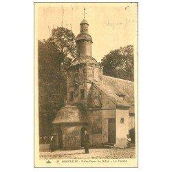 carte postale ancienne 14 HONFLEUR. Eglise Notre-Dame de Grâce façade