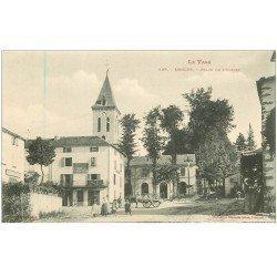 carte postale ancienne 81 ANGLES DU TARN. Café du Commerce Place de l'Eglise vers 1900