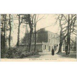carte postale ancienne 81 ANGLES DU TARN. Château de Boutaric 1927 animation