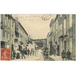 carte postale ancienne 81 BRASSAC. La Grande Rue 1908
