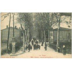 carte postale ancienne 81 CADIX. Route de Cuq-Toulza