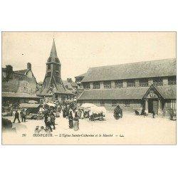 carte postale ancienne 14 HONFLEUR. Eglise Sainte-Catherine et Marché 26