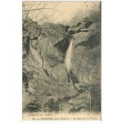 carte postale ancienne 81 CASTRES LE SIDOBRE. Le Saut de la Truite Cascade
