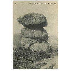 carte postale ancienne 81 CASTRES LE SIDOBRE. Les Trois Fromages personnage assis
