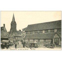 carte postale ancienne 14 HONFLEUR. Eglise Sainte-Catherine et Marché 7