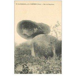 carte postale ancienne 81 CASTRES LE SIDOBRE. Roc de Baptistou 1931