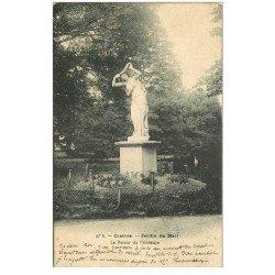carte postale ancienne 81 CASTRES. Jardin du Mail. Statue le Retour du Prntemps 1905