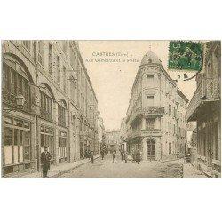 carte postale ancienne 81 CASTRES. La Poste Rue Gambetta 1921