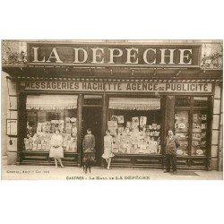carte postale ancienne 81 CASTRES. Le Hall de La Dépêche. Messagerie Hachette Agence de Publicité
