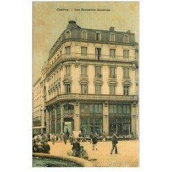 carte postale ancienne 81 CASTRES. Les Nouvelles Galerie. Superbe carte toilée vers 1905