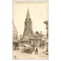 carte postale ancienne 14 HONFLEUR. Eglise Sainte-Catherine le Clocher 16