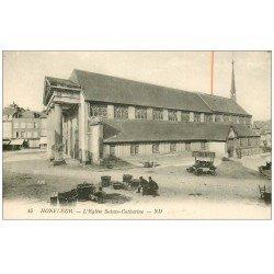 carte postale ancienne 14 HONFLEUR. Eglse Sainte-Catherine 45