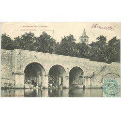 carte postale ancienne 81 LABRUGUIERE. Lavandières Laveuses aux Lavoirs 1904