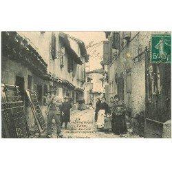 carte postale ancienne 81 LABRUGUIERE. Rue Ancienne du Quatre-Septembre 1911