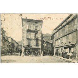carte postale ancienne 81 MAZAMET. Le Cours René Reille. Magasin A La Confiance et Tabac vers 1920