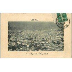 carte postale ancienne 81 MAZAMET. Vue générale aérienne sur la Ville 1914