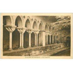 carte postale ancienne 82 MOISSAC. 3 Cpa Cloître Saint-Pierre vue intérieure